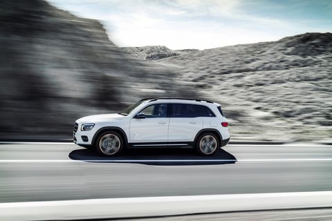 The 2020 Mercedes-Benz GLB is designed to slot in, logically enough, between the GLA and CLC. There's a reason for its squared-off roofline: The GLB offers an optional third row of seats, which provides seating for up to seven occupants in total. Power comes from a 2.0-liter turbo four; front-wheel drive is standard, with all-wheel drive offered as an option.