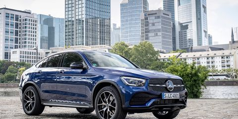 The 2020 Mercedes-Benz GLC300 Coupe is for buyers who like their roofline a little sportier than the SUV
