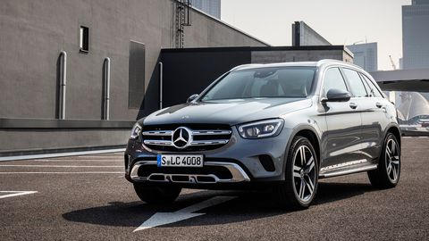 The 2020 Mercedes-Benz GLC300 SUV comes with a turbocharged 2.0-liter making 255 hp.