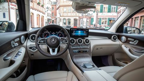 The 2020 Mercedes-Benz GLC300 SUV goes on sale in late 2019.