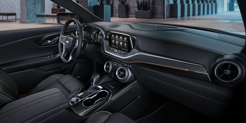 The 2019 Chevrolet Blazer is offered in five trims: L, Blazer Cloth, Blazer Leather, RS and Premier.