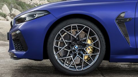 The 2020 BMW M8 features a 4.4-liter V8 that makes 600 hp -- or enough to get you moving to 60 mph in only three seconds.