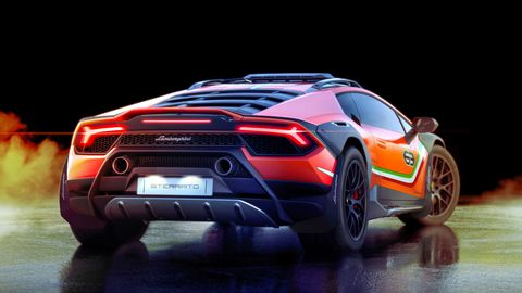 The Lamborghini Huracan Sterrato comes with the Evo's powertrain, but is ready for off-roading. Maybe soft roading.