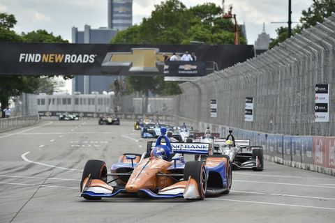 Sights from the Gallery: IndyCar action at the Chevrolet Detroit Grand Prix Race 2, Sunday June 2, 2019.