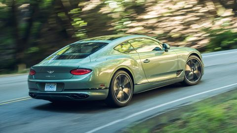 """2019 Bentley Continental GT is offered in this mossy, """"alpine green"""" color."""