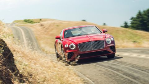 The 2019 Bentley Continental GT V8 comes with a 4.0-liter twin-turbo V8 amking 542 hp and 568 lb-ft of torque.
