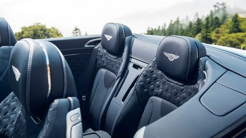 The 2019 Bentley Continental GT come with brushed and polished metal trim, diamond quilted leather and an analog clock.
