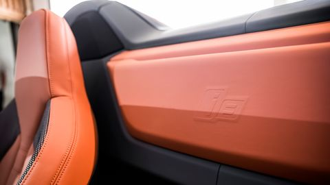 The 2019 BMW i8 Roadster will stick out whether you get the orange seats or not.