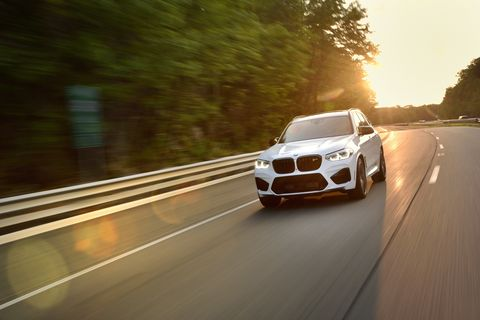 The 2020 BMW X3 M gets a 3.0-liter twin-turbo I6 making 473 hp (503 hp in the Competition version).