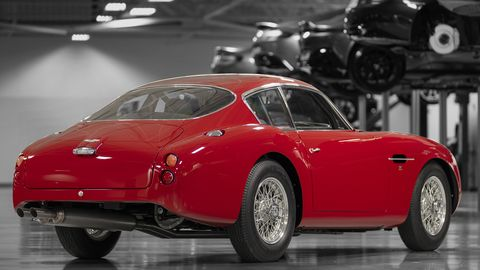 Aston Martin is building 19 cars for well-heeled customers. This DB4 GT Zagato pairs with the DBS GT Zagato and will cost $6.7 million for both.