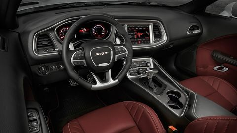 The 2019 Dodge Challenger SRT Hellcat Redeye gets a few special interior touches.