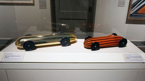 Mirrored LSR Car 08-1 #1814 (left) and Land Speed Assault 07-8 #1758, 2007, Richard Marquis.