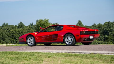 Land vehicle, Vehicle, Car, Sports car, Supercar, Ferrari testarossa, Coupé, Ferrari tr, Race car, Automotive design,