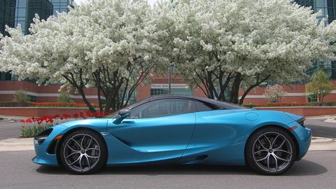 The 2019 McLaren 720S Spider comes with a 4.0-liter twin-turbo V8 making 710 hp.