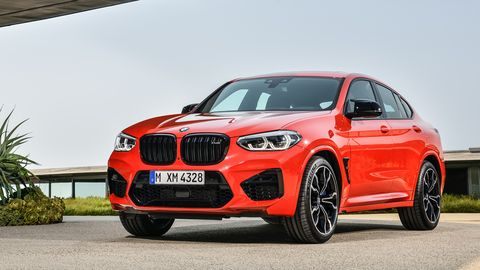The 2020 BMW X4 M, like the X3 M, features a 473-hp twin-turbo I6.