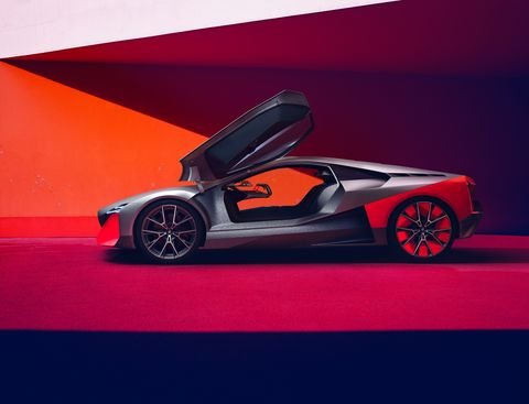 """The BMW Vision M NEXT provides, in the words of Adrian van Hooydonk, senior VP of BMW Group design, """"a glimpse into the future of sporty driving."""" The future-wedge is inspired by the BMW Turbo concept (which evolved into the M1) and gets a 600-hp hybrid drive system."""