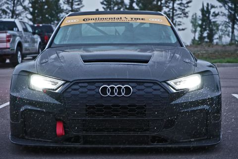 Audi S3 with 500 horsepower and front-wheel-drive prepped by Bluewater Performance and driving by Robb Holland for the 97th running of the Pikes Peak Internation Hill Climb