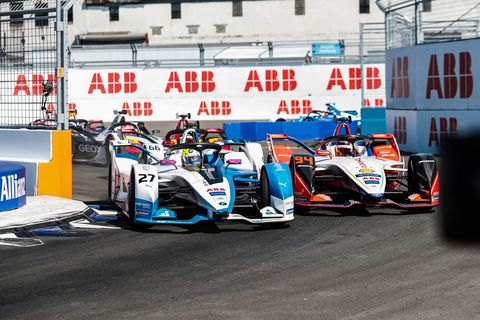 Sights from the Formula E New York City E-Prix race 1, Saturday July 13, 2019