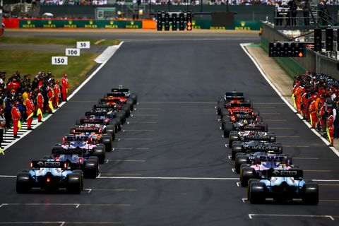Sights from the F1 action at the British Grand Prix at Silverstone, Sunday July 14, 2019