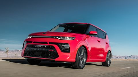 This is the 2020 Kia Soul GT-Line, which gets slightly more aggressive styling than the X-Line above.
