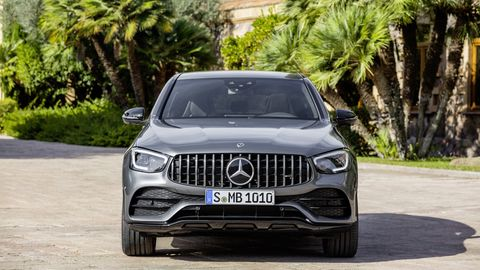 The Mercedes-AMG GLC 43 isn't a fire-breathing super-crossover, but it's a 385 hp family mover that can spring to 62 mph in 4.7-seconds.