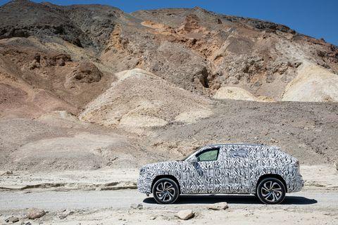 2020 VW Atlas Cross Sport hot-weather testing in Death Valley