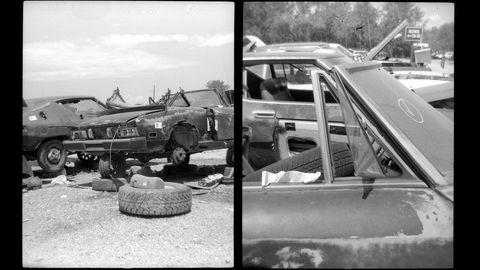 Land vehicle, Vehicle, Car, Motor vehicle, Family car, Scrap, Classic car, Sedan,