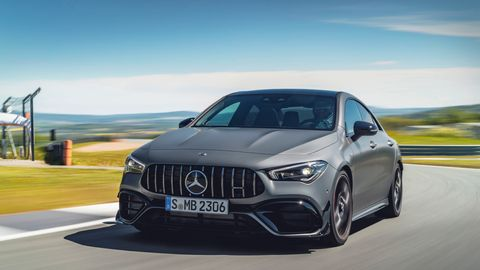 The 2020 Mercedes-AMG CLA 45 comes with the new M139 turbocharged four making 382 hp.