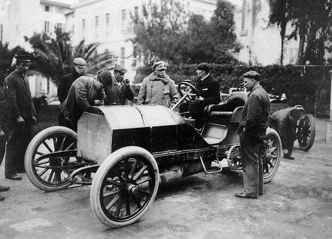 Before Gottlieb Daimler united with Karl Benz there was Daimler Motoren Gesellschaft and its early race cars. The Mercedes name was used starting around the turn of the 20th Century.