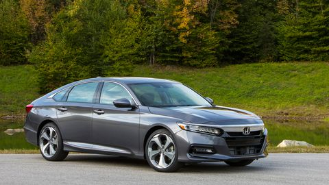 The 2019 Honda Accord Touring comes with a 2.0-liter turbocharged four making 252 hp and 273 lb-ft.