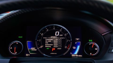 You have a choice of leathers in the 2019 Acura NSX, we suggest the blue.