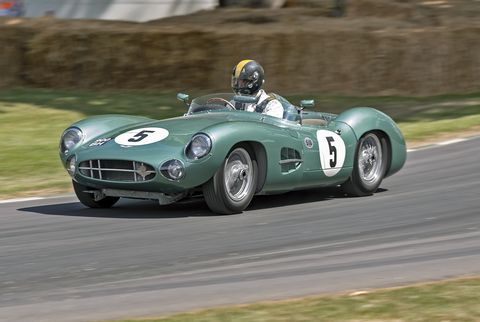 Our 15 favorite cars, five favorite motorcycles and four favorite aeroplanes from Goodwood. Here's a 1957 Aston Martin DBR1. Aston Martin raced at the very first Goodwood event 70 years ago, when the road course around the aerodrome was first used.