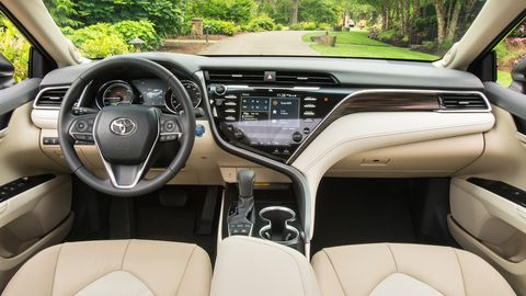 The 2019 Toyota Camry Hybrid has the softest seats this side of a bean bag chair.