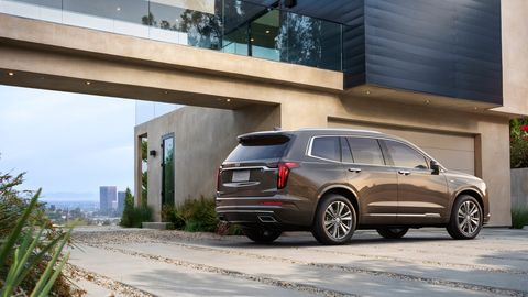 The 2020 Cadillac XT6 comes in either Sport or Premium Luxury base trims. This is the Premium Luxury.