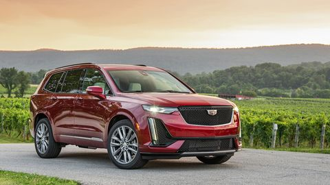 The 2020 Cadillac XT6 Sport model gets dark exterior accents and a quicker steering ratio but the same 310-hp V6 as the Premium Luxury.