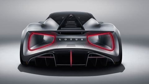 The Lotus Evija electric sports car will be built in Britain and deliver almost 2,000 hp.