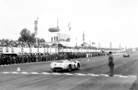 Mercedes-Benz re-entered racing in the early 1950s after the second world war. The Silver Arrows competed in Formula 1 again in 1954