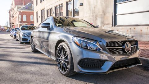 The 2019 Mercedes-Benz C300 Coupe comes with a turbocharged 2.0-liter four making 255 hp and 273 lb-ft of torque.