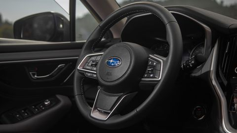 The 2020 Subaru Outback gets more room in the second row than the previous model along with a new infotainment screen.