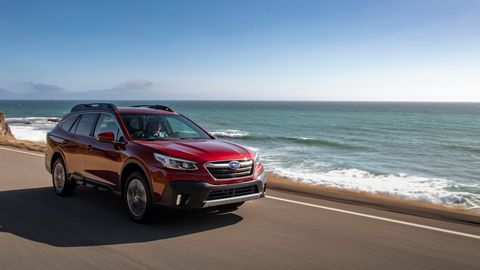 The base 2020 Subaru Outback comes with a 2.5-liter four and a CVT.