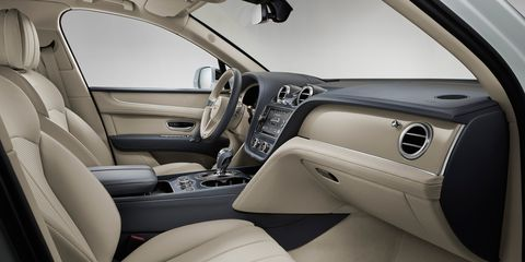 The 2019 Bentley Bentayga Hybrid interior is as top notch as the company's other grand touring cars.