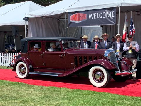 "<b><span style=""font-size:11.0pt""><span style=""font-family:&quot;Cambria&quot;,serif"">1933 Chrysler Imperial LeBaron CL</span></span></b><span style=""font-size:11.0pt""><span style=""font-family:&quot;Cambria&quot;,serif"">&nbsp;selected as ""Best of Show"" at Sunday's 64<sup>th</sup> annual Hillsborough Concours d'Elegance.</span></span>"
