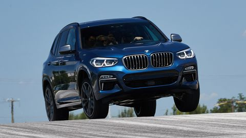 The 2019 BMW X3 M40i comes with a 3.0-liter turbocharged I6 making 355 hp.