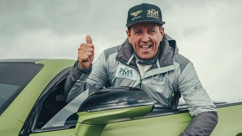 Bentley smashed the course record to mark its 100th anniversary year.