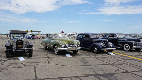 On the four-wheeled side, the theme was 1930s-1960s Americana. Planes fit into the same time frame, more or less.