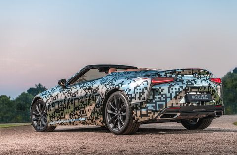 The Lexus LC convertible concept was confirmed for a production run.