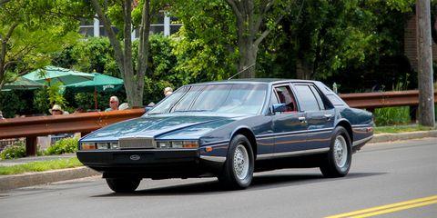 Land vehicle, Vehicle, Car, Classic car, Full-size car, Coupé, Sedan, Aston martin lagonda,
