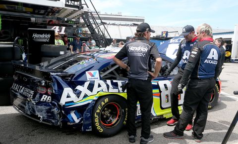 Sights from the NASCAR action at New Hampshire Motor Speedway, Saturday July 20, 2019.