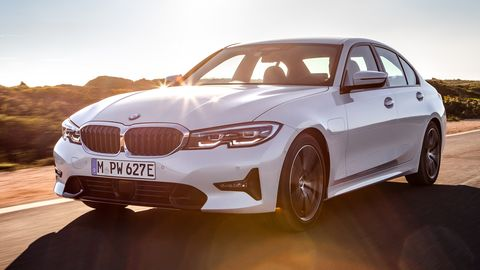 The 2021 BMW 330e <span><span>is tuned for 70 fewer peak hp (184) and a few more lb-ft of torque (300). </span></span>