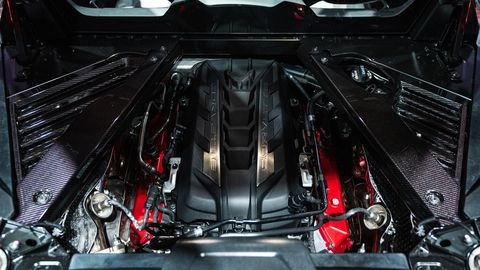 The new Chevrolet Corvette will use an evolution of the LT1 for power in base trims. Aptly dubbed LT2, the new engine produces 495 hp and 470 lb-ft of torque. That's nearly a 10 percent hike from the outgoing, base LT1 in the C7 'Vette.